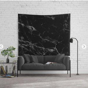 Black Marble Wall Tapestry- Society 6